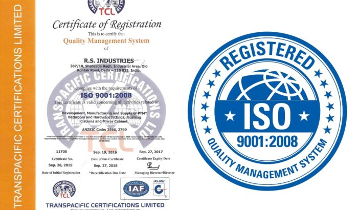 POLYTUF PTMT ISO Certified Company